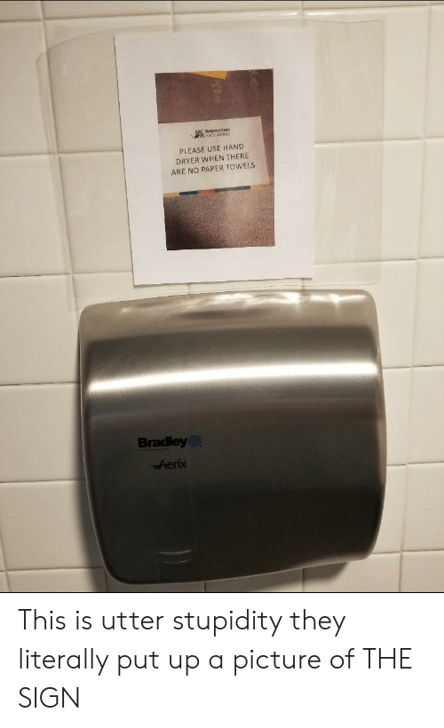 please use hand dryer