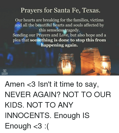 prayers for santa fe