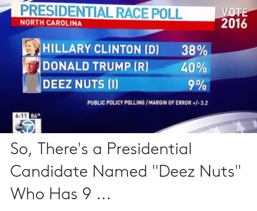presidential race poll north