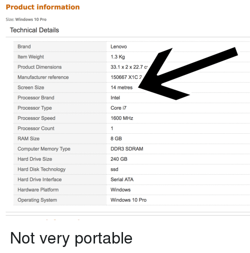 Product Information Size Windows 10 Pro Technical Details