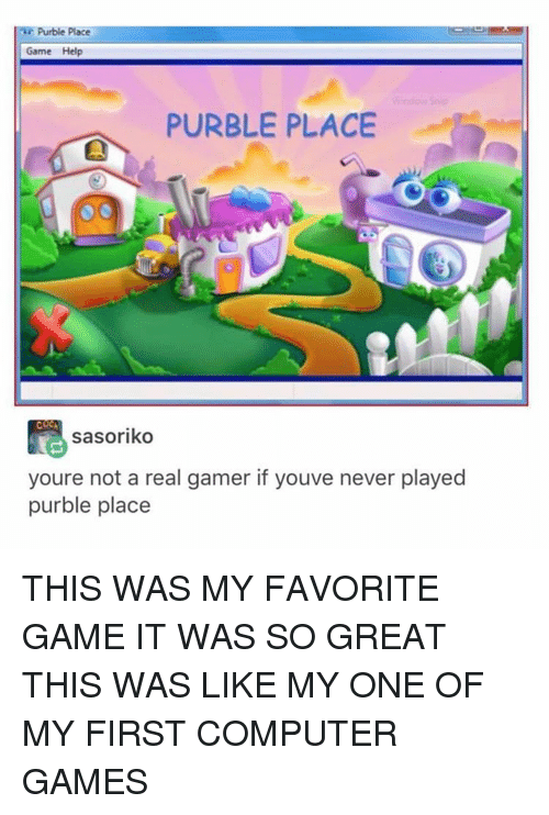 Purple Place Game : purple, place, Purble, Place, PURBLE, PLACE, Sasoriko, Youre, Gamer, Youve, Never, Played, FAVORITE, GREAT