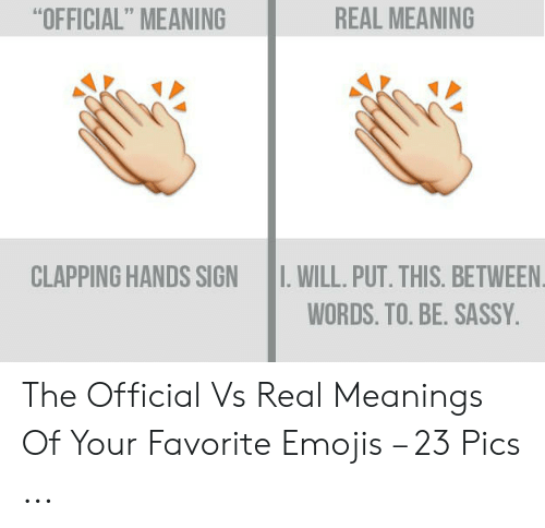 real meaning official meaning