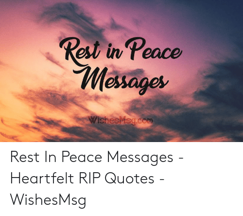 rest in peace messages