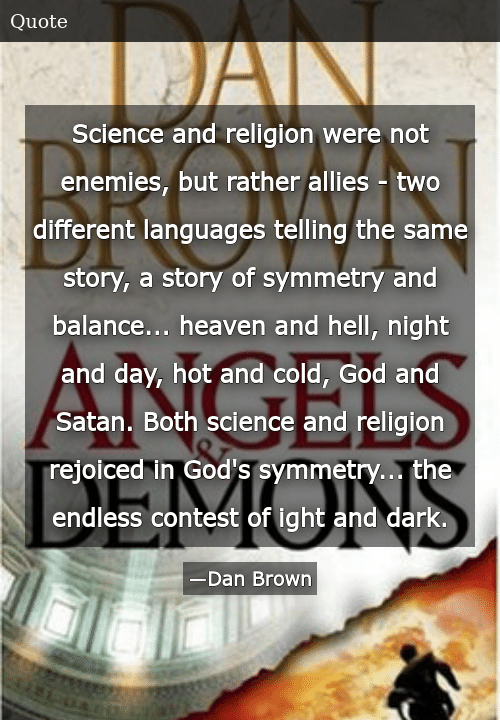 science and religion were
