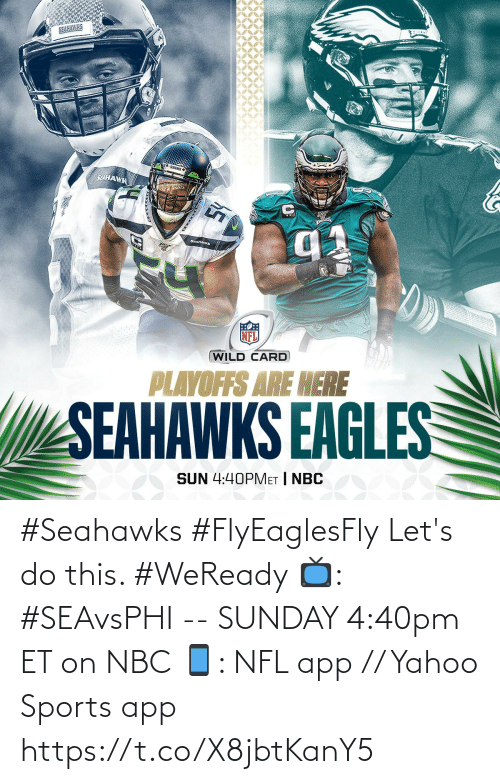 Seahawks Vs Eagles Memes : seahawks, eagles, memes, SELHAWK, SEAHANKS, PLAYOFFS, SEAHAWKS, EAGLES, 440PMET, #Seahawks, #FlyEaglesFly, Let's, #WeReady, #SEAvsPHI, SUNDAY, 440pm, Yahoo, Sports