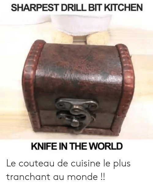 SHARPEST DRILL BIT KITCHEN KNIFE IN THE WORLD Le Couteau