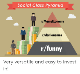 Social Class Pyramid rMemeEconomy Rdankmemes Rfunny Very Versatile and Easy to Invest In! Funny Meme on ME ME
