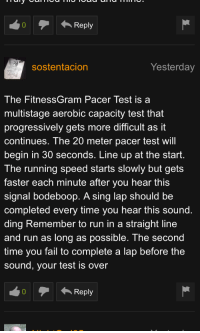 The Fitnessgram Pacer Test Lyrics : fitnessgram, pacer, lyrics, 0Reply, Sostentacion, Yesterday, FitnessGram, Pacer, Multistage, Aerobic, Capacity, Progressively, Difficult, Continues, Meter, Begin, Seconds