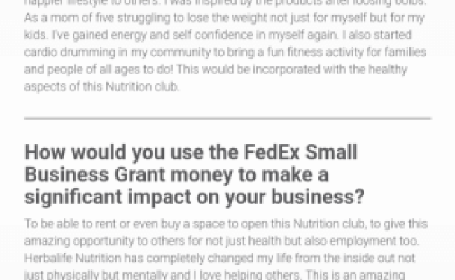 1248 Smallbusinessgrantfedexcom Elevator Pitch As A Health