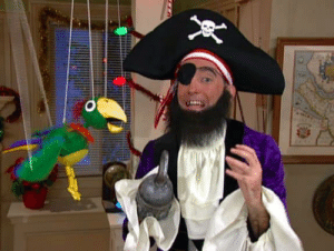Both Patchy the Pirate and Potty the Parrot Made an Appearance in the Spongebob's Big Birthday Blowout Episode So Very Content With What They ...