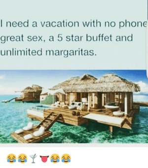 I Need A Vacation With No Phone Great Sex A 5 Star Buffet And Unlimited Margaritas I Need A Beach Vacation Meme 24158 Infobit Meme On Me Me