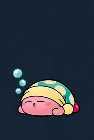 Chuck Iphone Wallpaper I Put Together A Simple Sleep Kirby Wallpaper For Myself