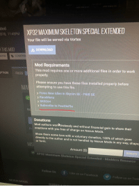 Xp32 Maximum Skeleton Extended : maximum, skeleton, extended, 181-45pm, MAXIMUM, SKELETON, SPECIAL, EXTENDED, Served, Vortex, GENCOMPAN, DOWNLOAD, Requirements, Requires, Additional, Files, Order, IPTION, FILES, Properly