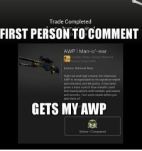 trade completed first personto