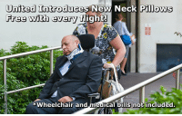 wheelchair fight teak dining chair upholstery united introduces new neck pillows free with every and medical bills not included