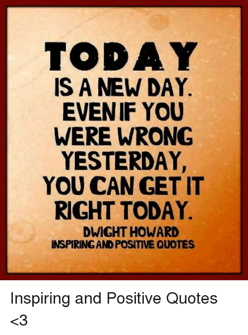 Today's A New Day Quote : today's, quote, Quotes, Today, Master, Trick