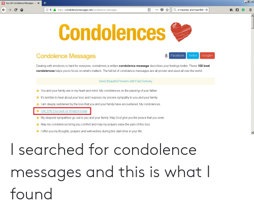 top 100 condolence messages