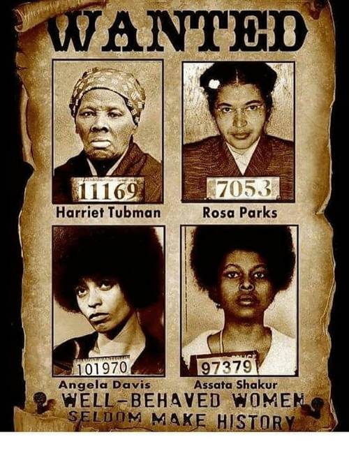 WANTED Harriet Tubman Rosa Parks 01970 Angela Davis WELL