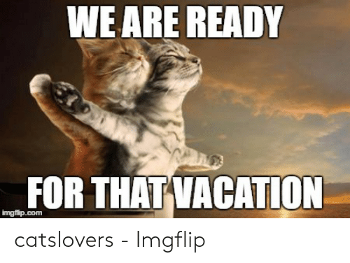 Weare Ready For That Vacation Catslovers Imgflip Vacation Meme On Me Me