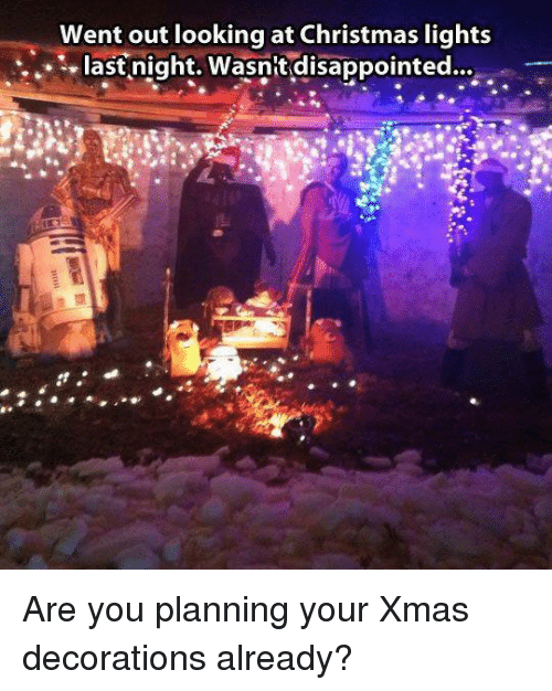 Christmas Lights Went Out
