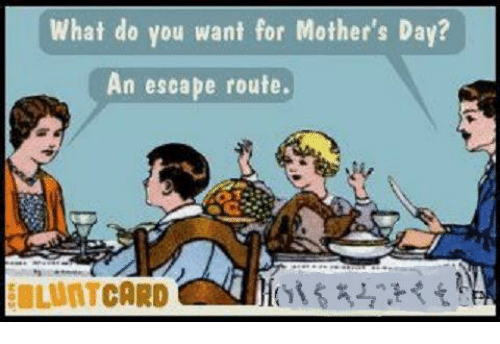 Blunt Funny Day Mothers Cards