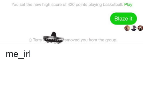 You Set the New High Score of 420 Points Playing