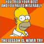 25 Best Memes About The Lesson Is Never Try The Lesson