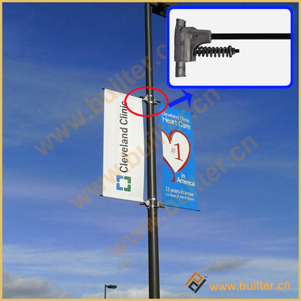 Metal Street Light Pole Advertising Flag Device Metal