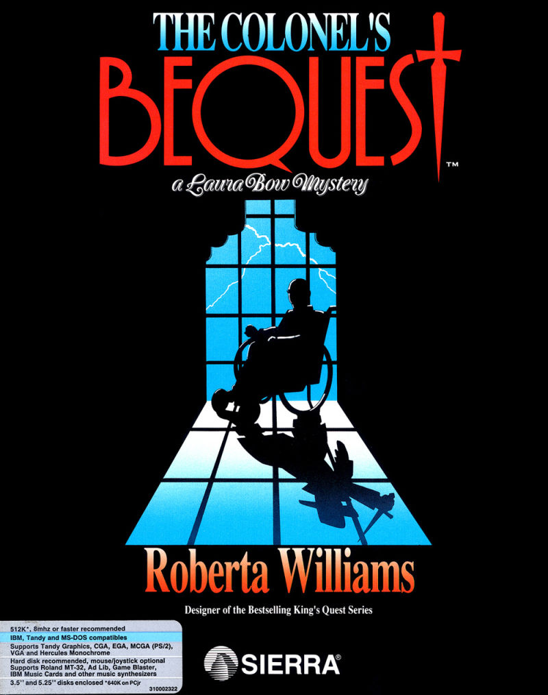 The Colonel's Bequest DOS Front Cover