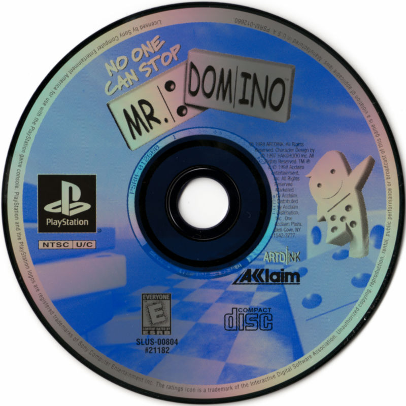 No One Can Stop Mr Domino 1998 PlayStation box cover