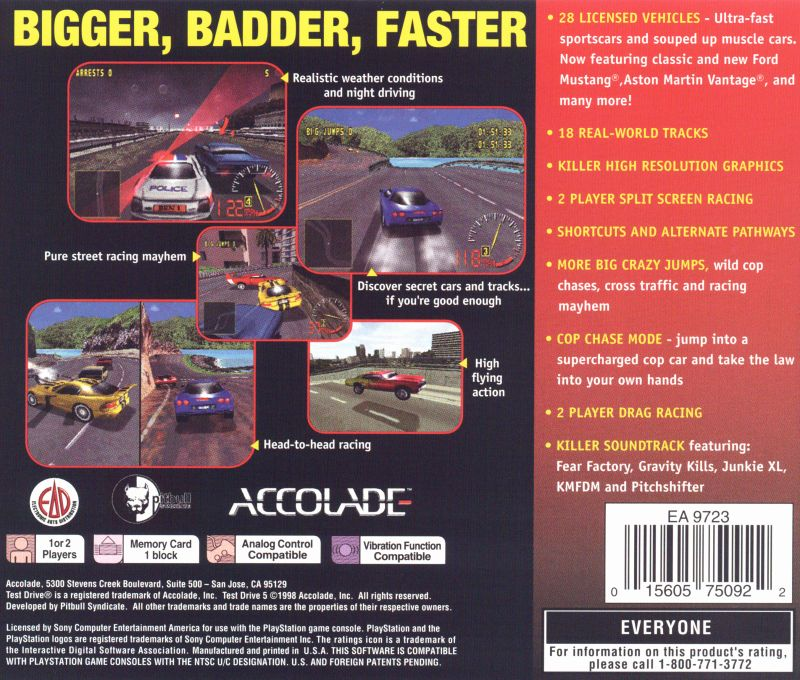 Test Drive 5 1998 PlayStation box cover art  MobyGames