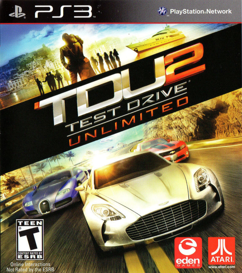 Test Drive Unlimited 2 2011 PlayStation 3 box cover art