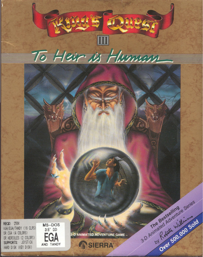King's Quest III: To Heir is Human DOS Front Cover