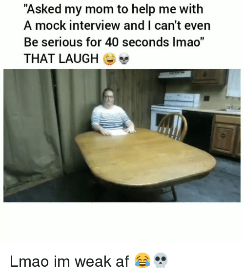 Funny Laugh Mock Interview