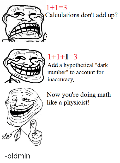Image result for now you are doing mathematics like physicist meme dark number