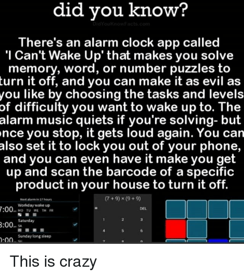 Alarm You Cant Turn