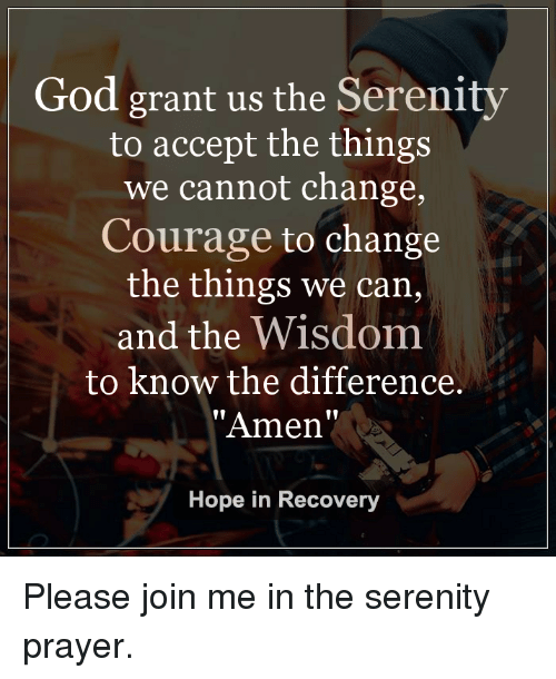 Inspirational Quote of the Day: The Serenity Prayer ...