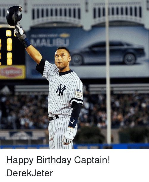 Derek Jeter Happy Birthday Card