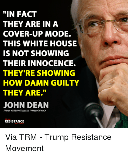 Image result for John W. Dean: Trump in cover-up mode