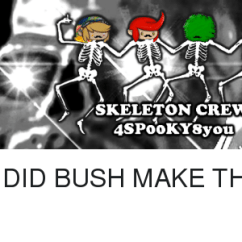 Wake Me Up Inside Skeleton Chair Meme How To Install Rail Tile Unknown Punster Crew A Bone Fide Haunted House Repair #unknown_punster | On Me.me