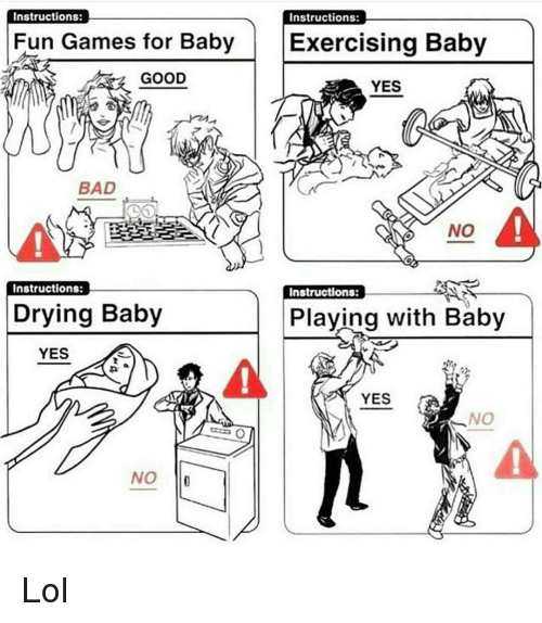 Instructions Instructions Fun Games for Baby Exercising