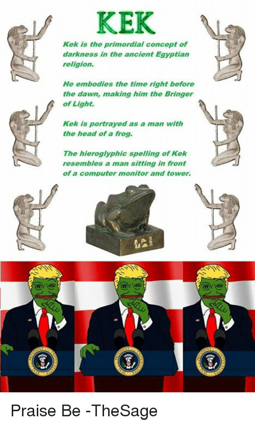 「ancient statue of kek」の画像検索結果