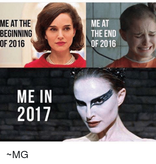 Image result for meme me at the beginning of 2016 me in 2017