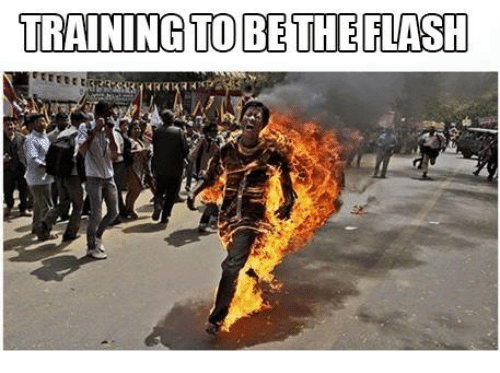 Training To Be The Flash  The Flash Meme On Sizzle