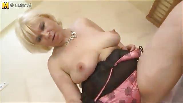 Horny Granny Masturbating