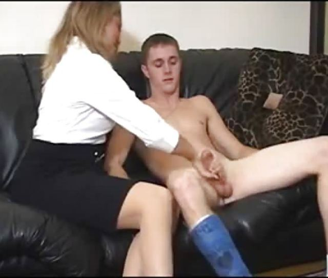 Mom Is Teaching Her Son How To Enjoy Jerking Off