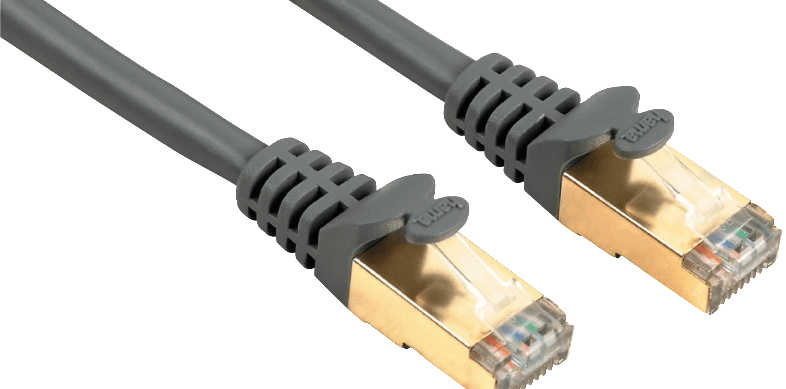HAMA CAT 5e Network Cable STP, gold-plated, shielded, grey, 5 m - (00041896)