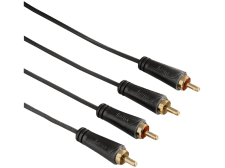 HAMA Audio Cable, 2 RCA plugs - 2 RCA plugs, gold-plated, 1.5 m - (00123224)