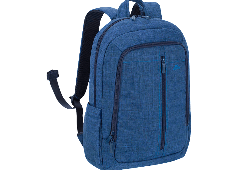 RIVACASE 7560 Laptop Canvas Backpack 15.6 Blue