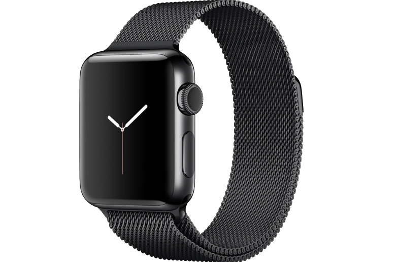 APPLE Watch Series 2 42mm SS Space Black Milanese - ( MNPE2GK/A)